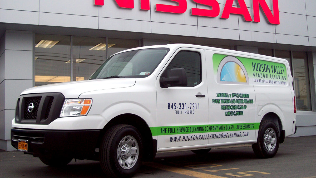 Hudson Valley Window Cleaning custom van