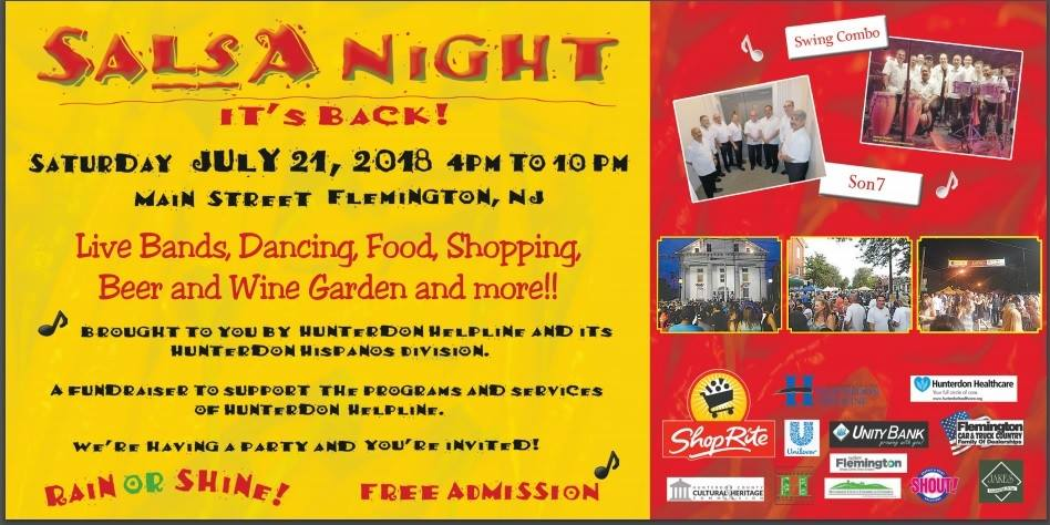 2018 Hunterdon Helpline Salsa Night