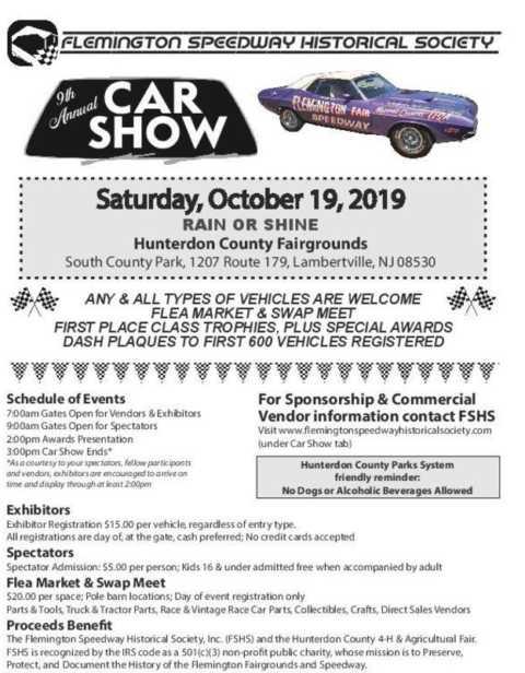 9th Annual Flemington Speedway Historical Society Car Show
