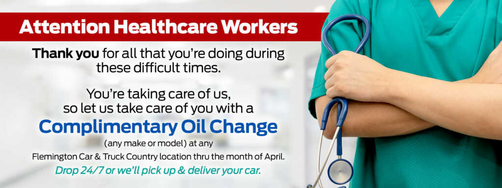 Complimentary Oil change for healthcare workers April