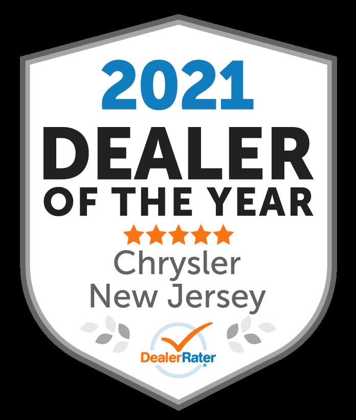 2021 DealerRater Chrysler Dealer of the Year NJ