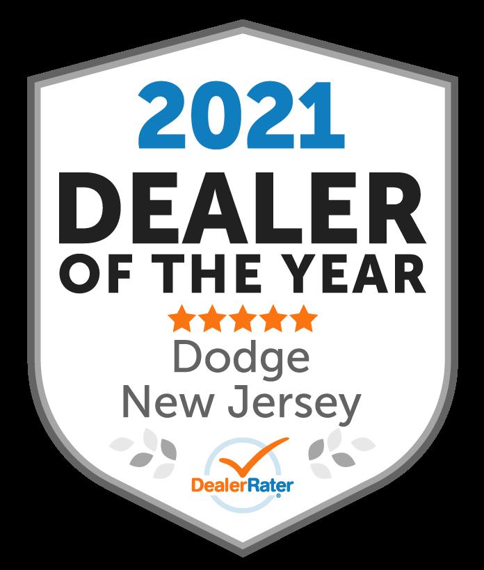 2021 DealerRater Dodge Dealer of the Year NJ