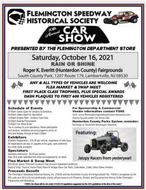10th Annual Flemington Speedway Historical Society Car Show