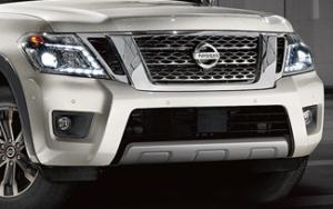 2017 Nissan Armada chrome grille