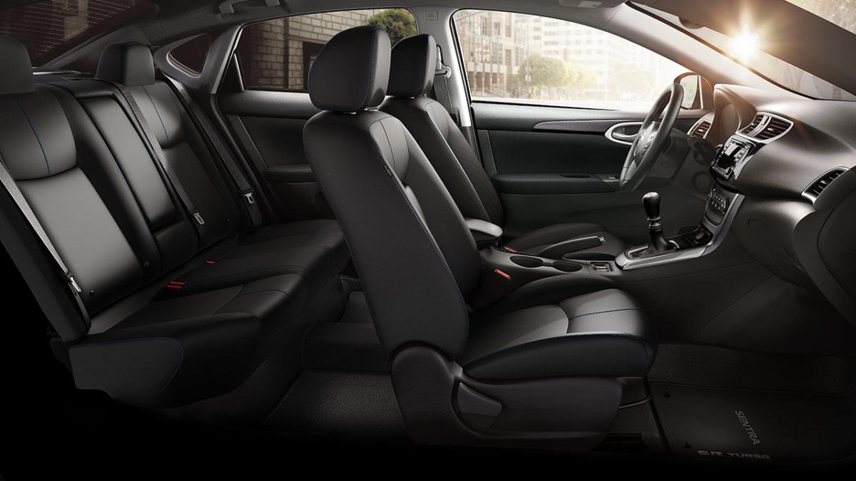 Nissan Sentra charcoal cloth interior