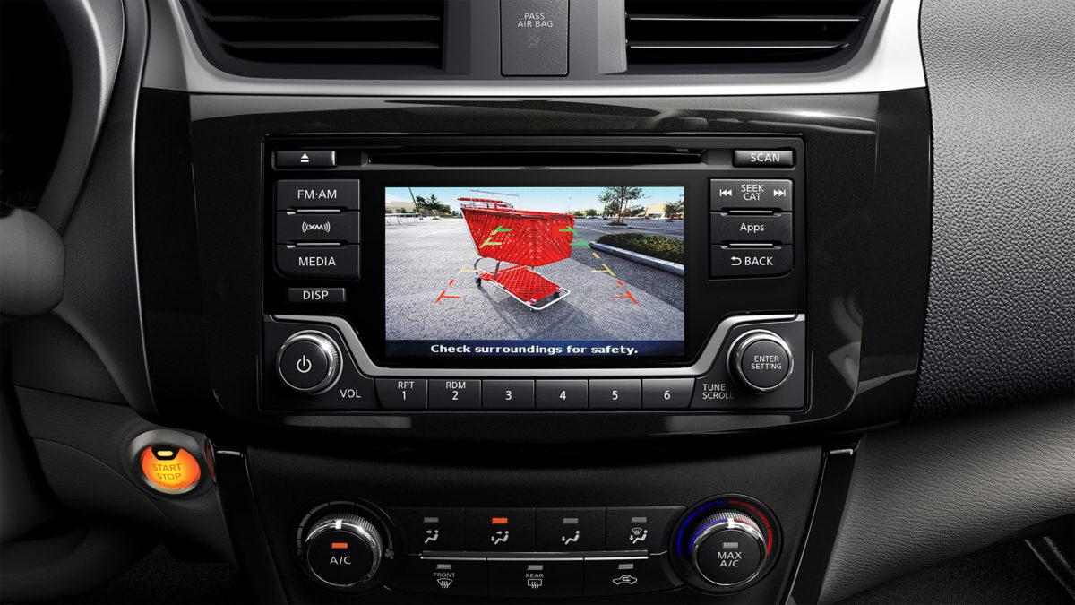 Nissan Sentra rear view monitor