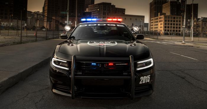 FRONT VIEW: 2015 Dodge Charger Pursuit