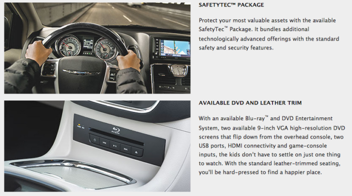 2015 Chrysler Town and Country SafetyTec DVD Entertainment System