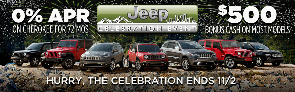 Jeep Celebration Event Specials NJ