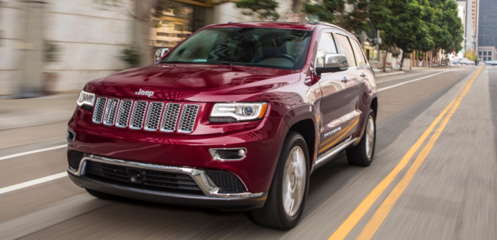 The 2016 Jeep Grand Cherokee Summit Morristown Central NJ front