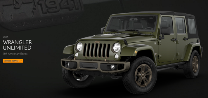 2016 Jeep Wrangler Unlimited 75th Anniversary Edition NJ